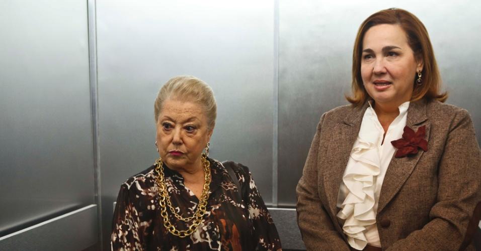 """Suely Franco e Claudia Jimenez em cena do episódio """"A Inocente de Brasília"""", da série """"As Brasileiras"""" (2012)"""