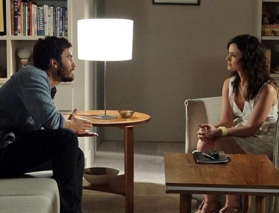 """Gabriel Braga Nunes e Carolina Kasting em cena de """"Amor Eterno Amor"""" (21/6/2012)"""