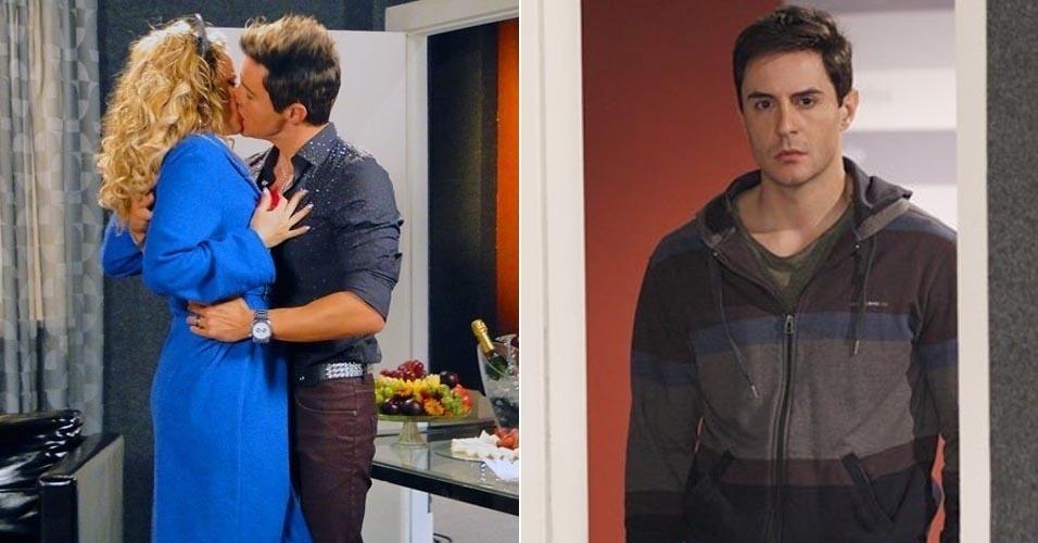 """Em """"Cheias de Charme"""", Inácio encontra Rosário aos beijos com Fabian e termina com a empreguete (25/6/12)"""