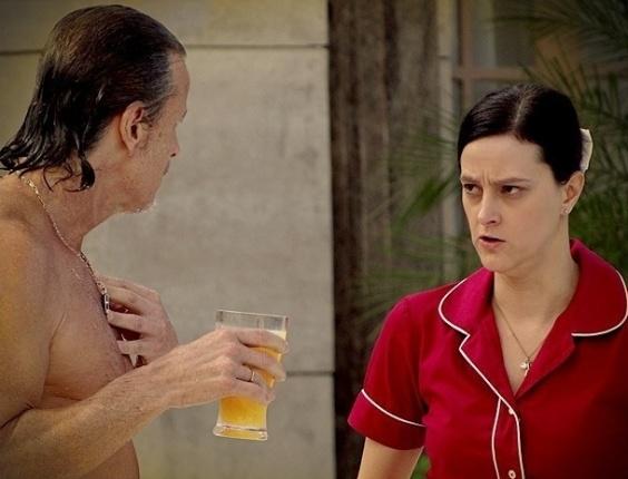 "Max (Marcello Novaes) e Janaína (Claudia Missura) em ""Avenida Brasil"" (26/6/12)"