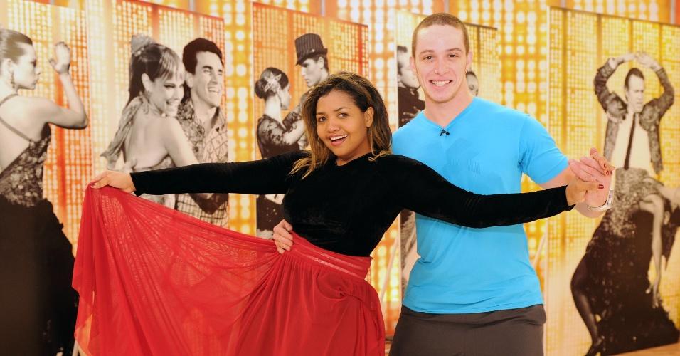 """A cantora Gaby Amarantos e Bruno Galhardo estão na repescagem da """"Dança dos Famosos"""" deste domingo (1/7/12)"""
