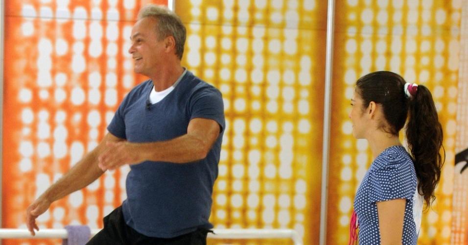"""O ator Kadu Moliterno e Daniele De Lova também estão na disputa para voltar à """"Dança dos Famosos"""" 2012, neste domingo (1/7/12)"""