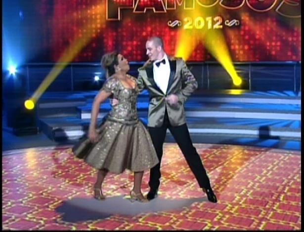 """Gaby Amarantos e Bruno Galhardo dançam """"Fly Me to the Moon"""" de Frank Sinatra na repescagem da """"Dança dos Famosos"""" (1/7/12)"""