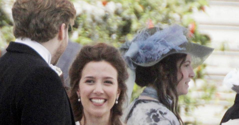 """Os atores Thiago Fragoso e Marjorie Estiano gravam cenas da nova novela das seis """"Novo Tempo"""" (26/6/12)"""