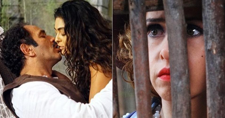 Zarolha flagra Nacib aos beijos com Gabriela e ameaça esfaquear a morena (3/7/12)