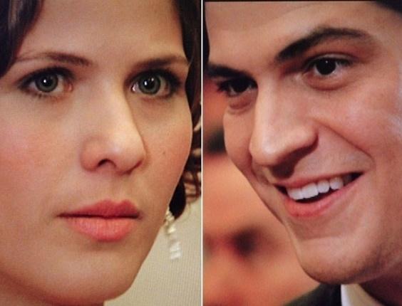 """Em """"Gabriela"""", Gerusa e Mundinho se olham, encantados (6/7/12)"""