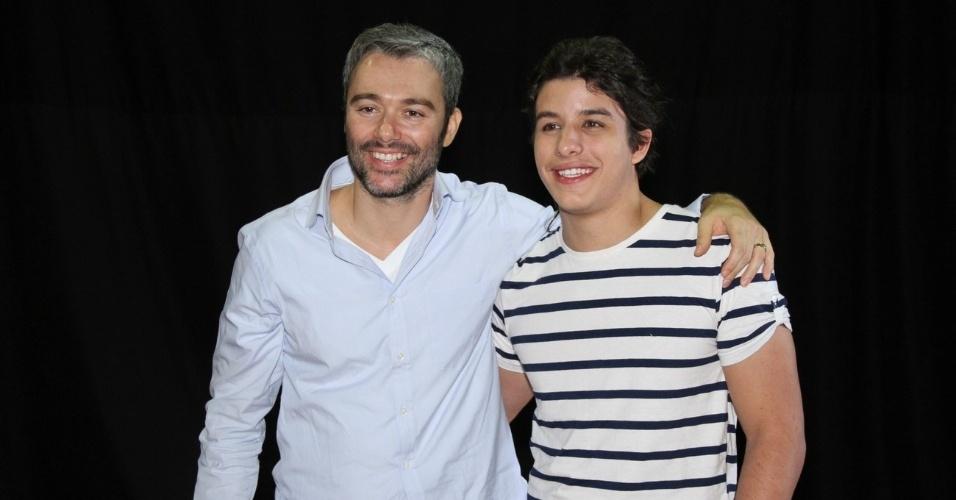 """Ângelo Paes Leme e Ricky Tavares participaram do workshop para a minissérie """"José - De Escravo a Governador"""" no RecNov, complexo de estúdios da Record, no Rio (9/7/12)"""