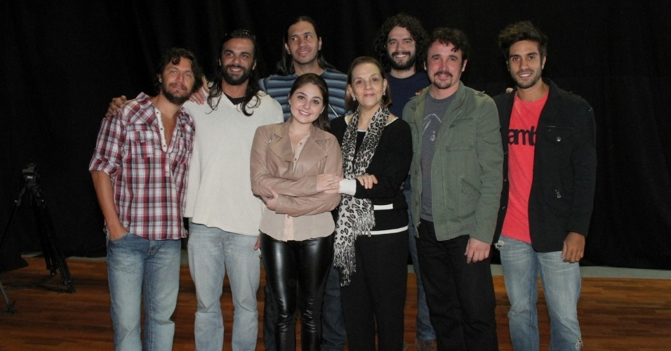 "Elenco de ""José - De Escravo a Governador"" durante workshop, no Rio (9/7/12)"