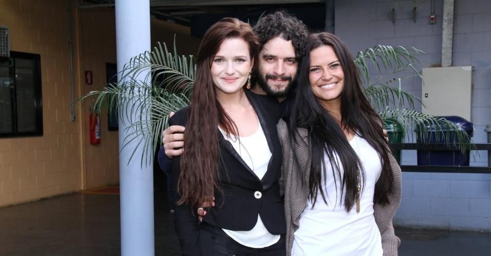 """Os atores Nanda Ziegler, Guilherme Winter e Carla Regina  no workshop de """"José - De Escravo a Governador"""", no Rio (9/7/12)"""