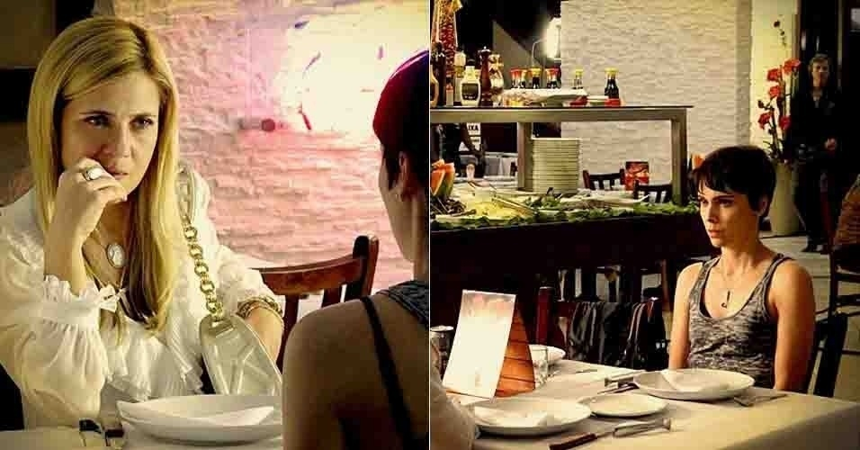 """Em """"Avenida Brasil"""", Carminha segue Nina em churrascaria e impede encontro com Max (11/7/12)"""