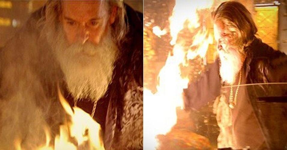 """Em """"Avenida Brasil"""", Nilo coloca fogo na casa de Lucinda (13/7/12)"""