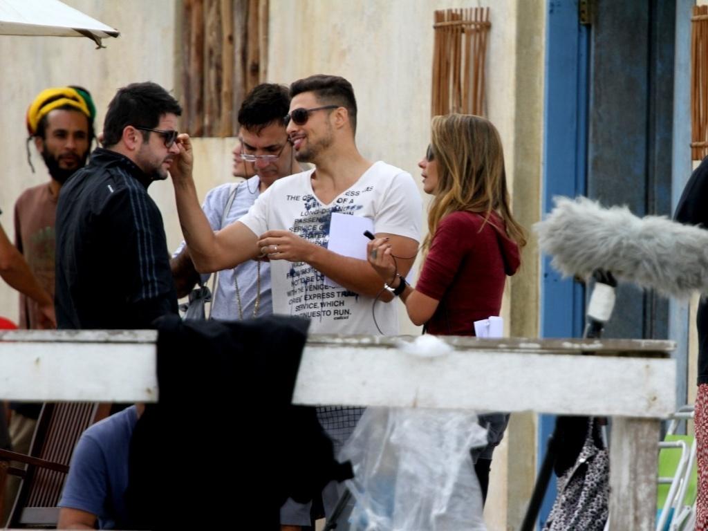 Cauã Reymond e Murilo Benício gravaram cenas de