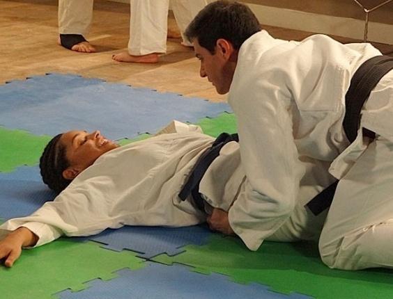 Inácio e Dinha treinam e pinta um clima no tatame (25/7/12)
