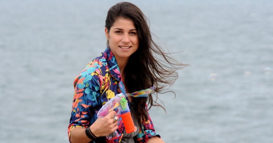 """Chandelly Braz, a Brunessa de """"Cheias de Charme"""", posa para foto no Arpoador, zona sul do Rio (1/8/2012)"""
