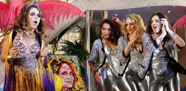 """Claudia Abreu e as """"empreguetes"""" Taís Araujo, Leandra Leal e Isabelle Drummond - TV Globo/Divulgação"""
