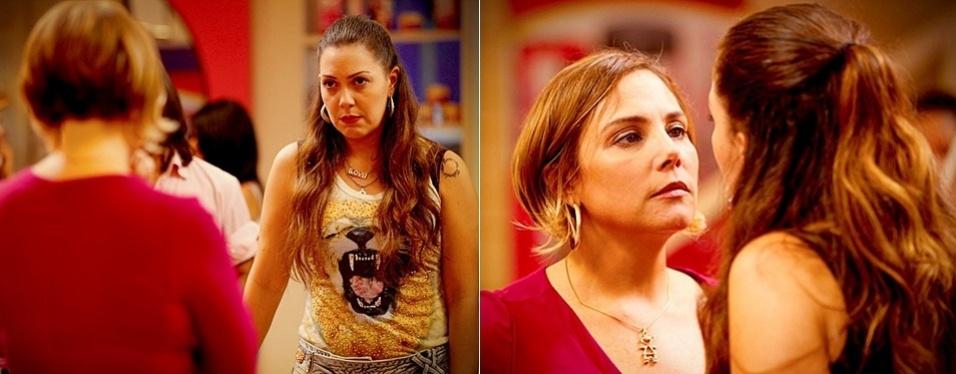 """Em """"Avenida Brasil"""", Olenka termina com Silas e implora para Monalisa não se mudar do Divino (6/8/12)"""