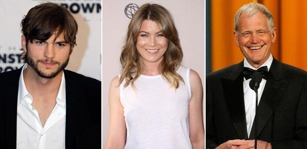 Ashton Kutcher, Ellen Pompeo, David Letterman estão na lista dos mais bem pagos da TV americana