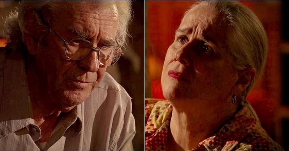 """Em """"Avenida Brasil"""", Lucinda e Santiago sentem remorso por todo que mal que fizeram a Carminha (9/8/12)"""