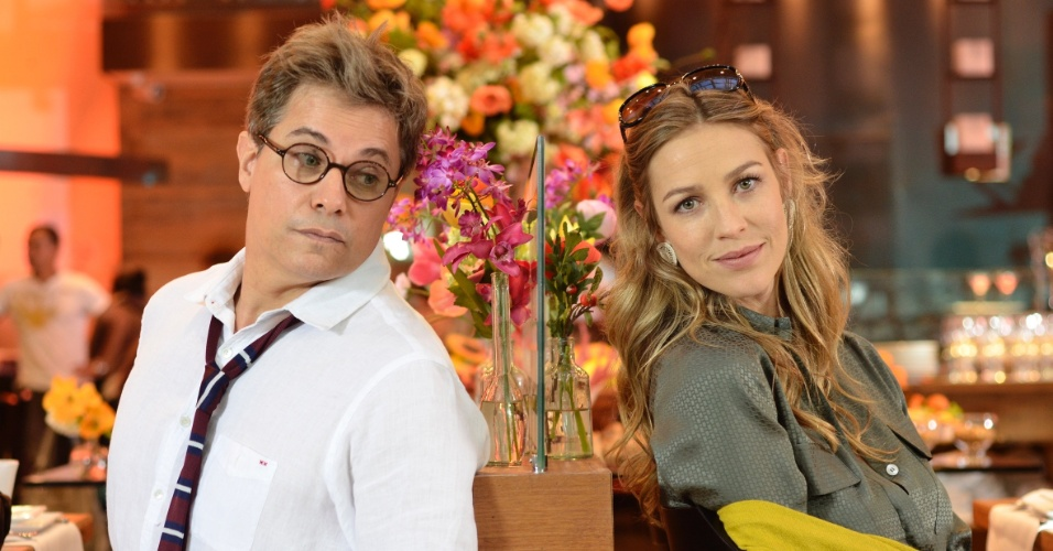 Edson Celulari e Luana Piovani durante gravação de