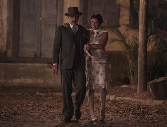 """Em """"Gabriela"""", pela primeira vez na vida, Gabriela sai com Nacib feito uma verdadeira senhora da sociedade (16/8/12)"""