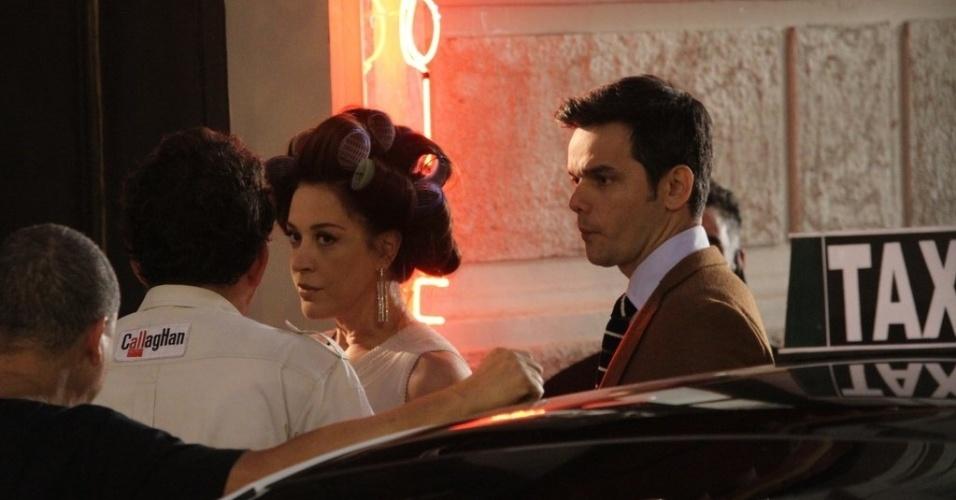 """Claudia Raia e Otaviano Costa gravaram cenas de """"Salve Jorge"""" no bairro da Lapa, centro do Rio (21/8/12)"""