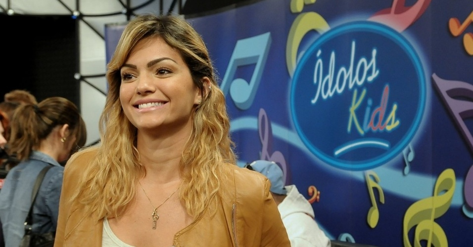 """Jurada do """"Ídolos Kids"""", Kelly Key participa de entrevista coletiva em São Paulo (28/8/12)"""