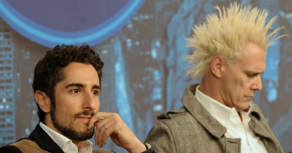 """Marcos Mion e Supla na coletiva de imprensa de """"Ídolos"""" que volta ao ar no dia 4 de setembro (28/8/12)"""
