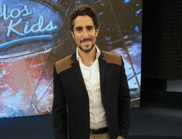 """Marcos Mion, novo apresentador do """"Ídolos"""", participa de entrevista coletiva em São Paulo (28/8/12)"""
