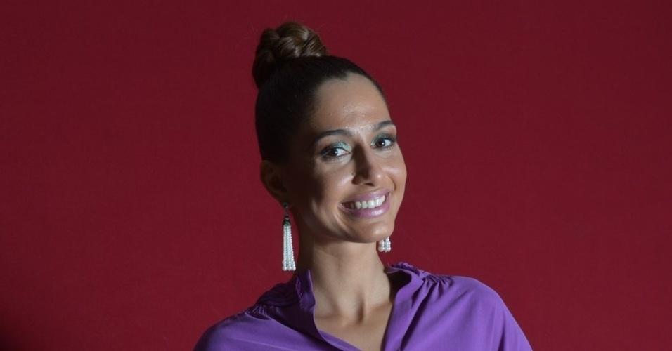 """Camila Pitanga na festa de lançamento da próxima novela das seis da TV Globo """"Lado a Lado"""", na Estação Leopoldina, no RJ (1/9/12)"""