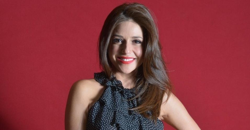 """Priscila Sol na festa de lançamento da próxima novela das seis da TV Globo """"Lado a Lado"""", na Estação Leopoldina, no RJ (1/9/12)"""
