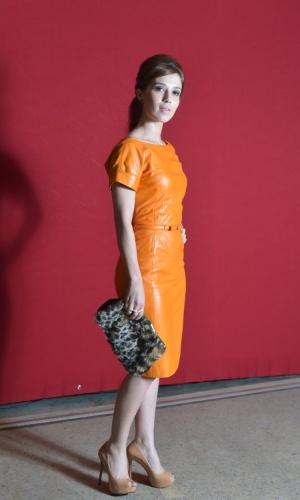 """Marjorie Estiano na festa de lançamento da próxima novela das seis da TV Globo """"Lado a Lado"""", na Estação Leopoldina, no RJ (1/09/2012)"""