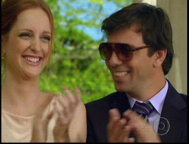 """Em """"Amor Eterno Amor"""", Priscila e Kleber comemoram a felicidade de Miriam e Rodrigo (7/9/12)"""