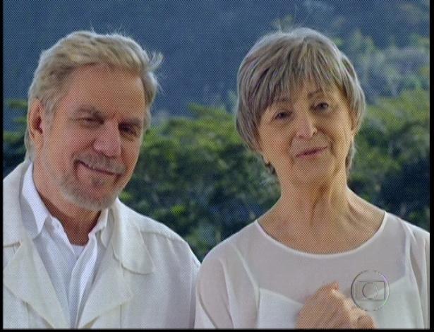"""Em """"Amor Eterno Amor"""", os pais de Rodrigo, Augusto e Verbena, observam o casamento do filho Rodrigo (7/9/12)"""