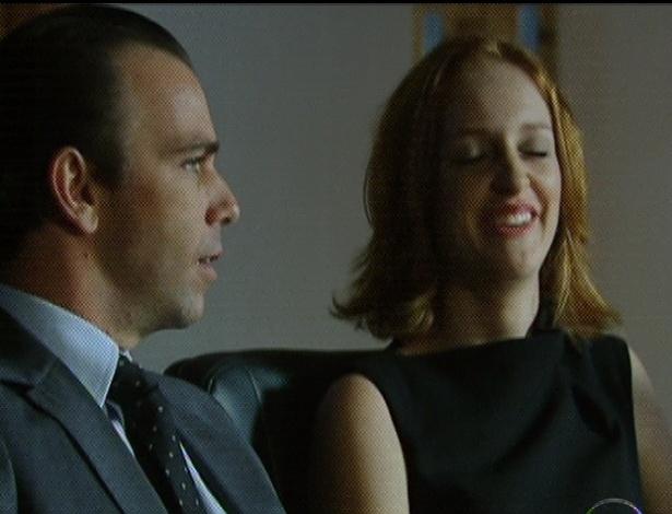 """Em """"Amor Eterno Amor"""", Rodrigo diz que vai morar na fazenda e deixa a """"Prado Borges"""" nas mãos de Priscila e Kleber (7/9/12)"""