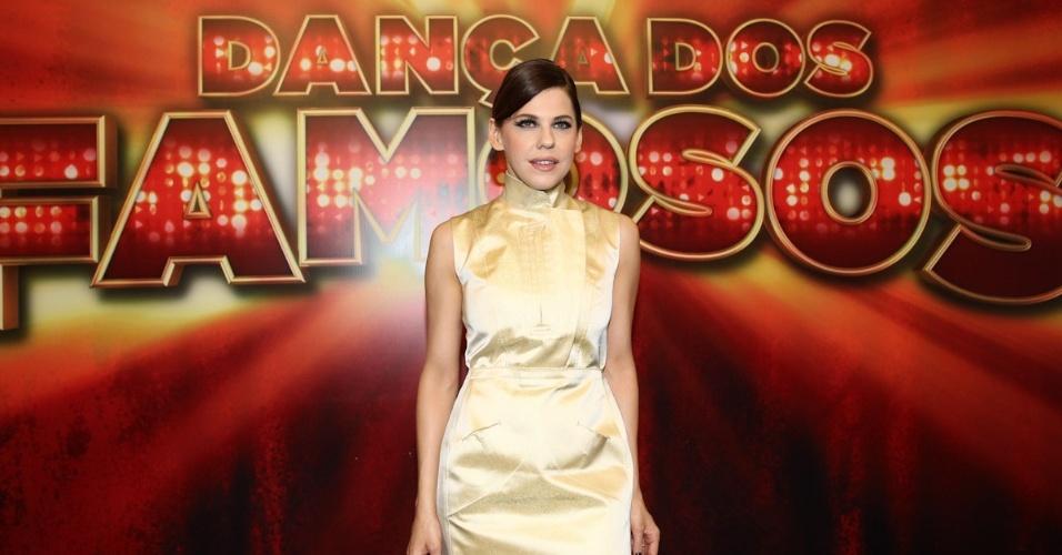 """Bárbara Paz chega para final da """"Dança dos Famosos"""", em São Paulo (16/9/12)"""