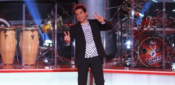 """O cantor Daniel, um dos jurados do """"The Voice Brasil"""", exibido pela Globo (18/9/12)"""