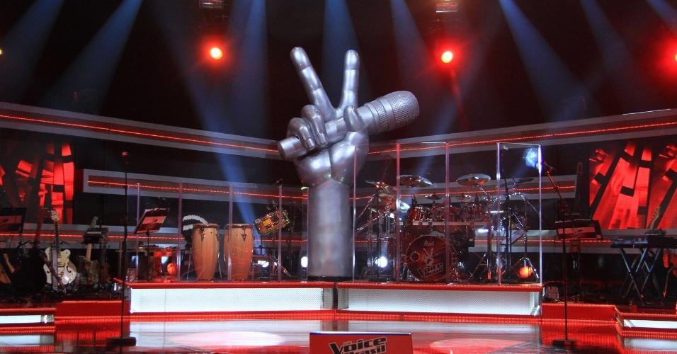 """Palco do """"The Voice Brasil"""", competição de calouros que será exibida pela Globo a partir do dia 23 de setembro (18/9/12)"""