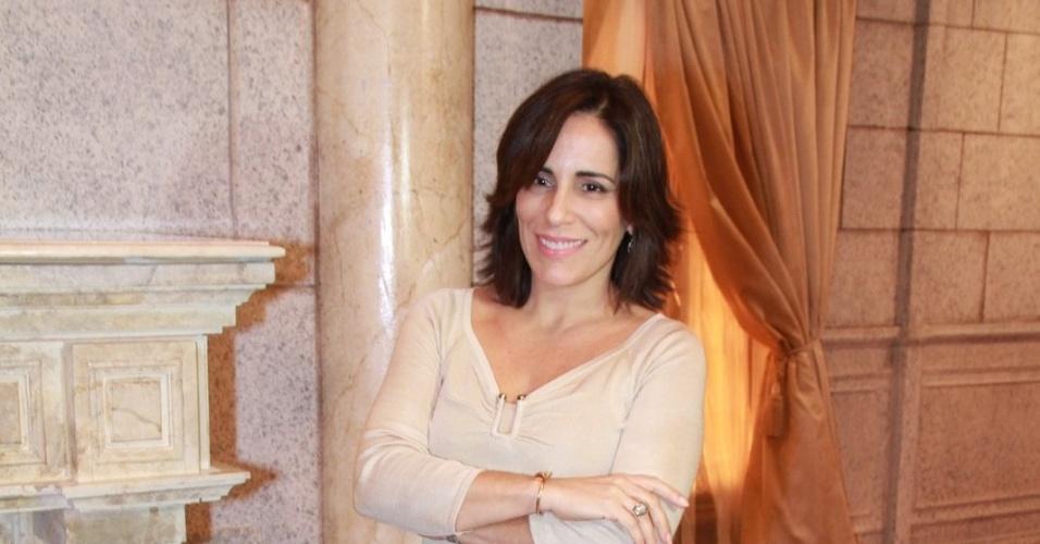 """A atriz Glória Pires participou de coletiva de lançamento de """"Guerra dos Sexos"""" no Rio de Janeiro (19/9/12)"""