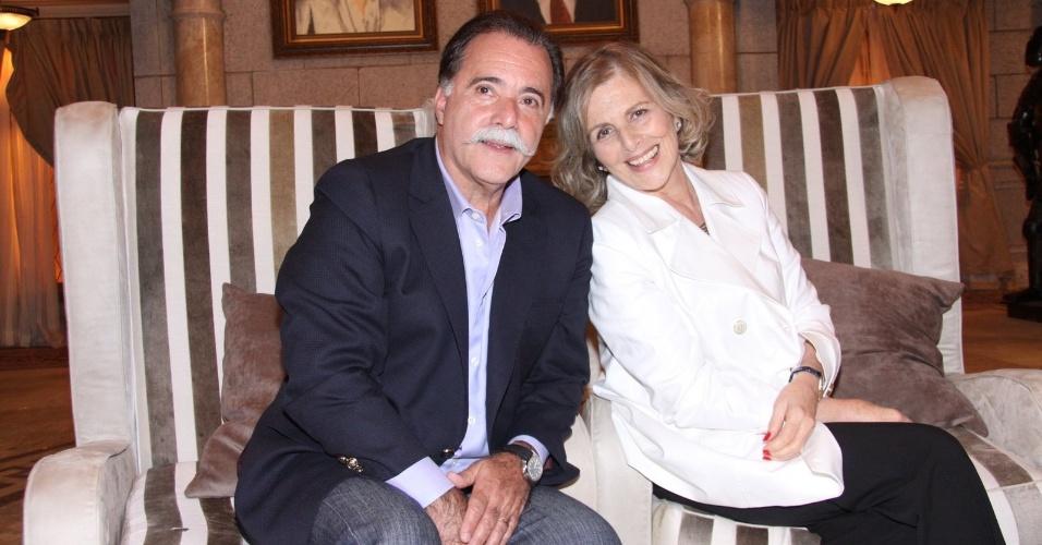 """Tony Ramos e Irene Ravache durante a coletiva da nova novela das 19 horas, o remake """"Guerra dos Sexos"""""""