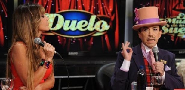 A ex-jurada Graciela Alfano, que discutiu com coreógrafo Aníbal Pachano (à dir.) durante o programa
