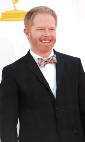 """O ator Jesse Tyler Ferguson, de """"Modern Family"""", chega à 64ª edição do Emmy Awards, em Los Angeles, nos EUA (23/9/12)"""