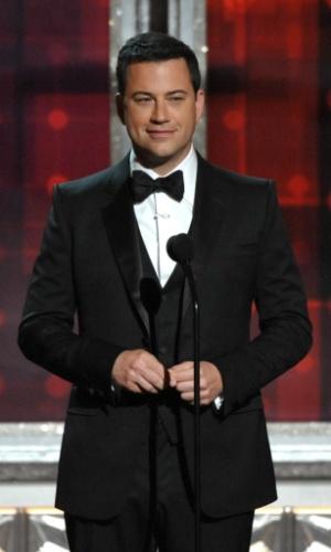 O anfitrião Jimmy Kimmel do 64º Emmy Awards durante a cerimônia, em Los Angeles (23/9/12)