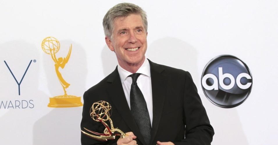 O apresentador Tom Bergeron na 64ª edição do Emmy Awards, em Los Angeles, nos EUA (23/9/12)