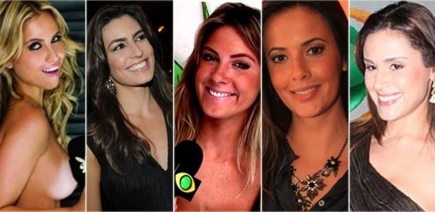 Mônica Apor (Muito Mais), Ticiana Villas Boas (Jornal da Band), Carolina Facchina (Band News), Paloma Tocci (Deu Olé) e Nadja Haddad (Vídeonews)