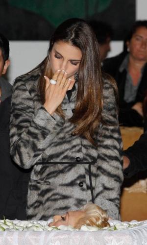 Cris Flores se despede de HebeCamargo, no Palácio dos Bandeirantes (29/9/12)