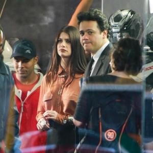 Alinne Moraes e Danton Mello gravaram cenas do seriado