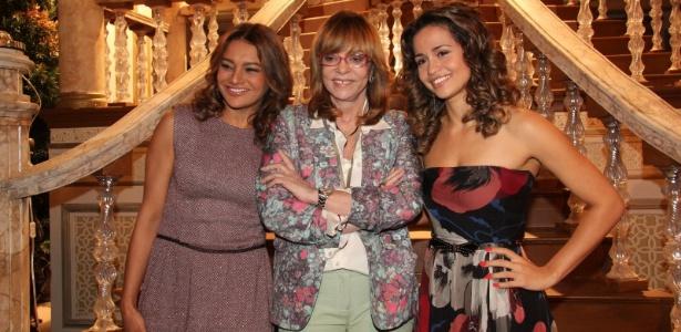 """Dira Paes, Glória Perez e Nanda Costa na coletiva de """"Salve Jorge"""" (2/10/12)"""