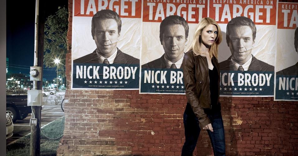 """A agente da CIA Carrie Mathison (Claire Danes) em imagem de divulgação da segunda temporada de """"Homeland"""", que estreia no canal FX, no dia 21 de outubro, às 23h"""