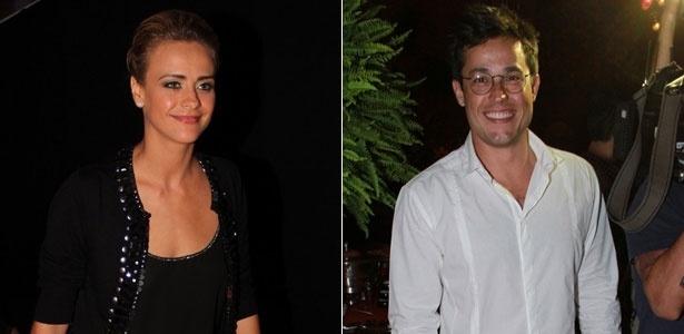 """Juliana Silveira e Roger Gobeth na festa de lançamento da novela """"Balacobaco"""", no Rio (4/10/12)"""