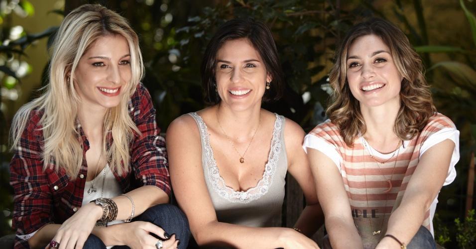 """Michelle Batista (esq.), Rafaela Mandelli e Juliana Schalch durante são as protagonistas da nova série brasileira da HBO, """"O Negócio"""" (8/10/12)"""